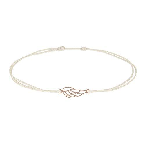 hca Pulsera de la suerte, símbolo 'alas de ángel' – H.C.A.