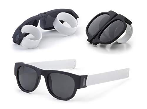 Gafas de Sol Plegables de Pulsera Unisex. Proteción Total UV400. Resistente y duradera. Ideal para Conducir, Viajes, Playa, Montaña, Deporte, Fiestas.