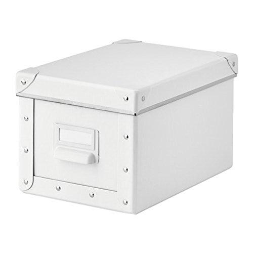 Ikea FJÄLLA Kasten mit Deckel; in weiß; (18x26x15cm)