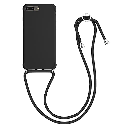 kwmobile Cover a Tracolla Compatibile con Apple iPhone 7 Plus / 8 Plus - Back Case in TPU Cover con Laccio per Il Collo - Custodia con Cordino