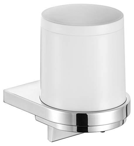 KEUCO Lotion-Spender Metall verchromt und Kunststoff, Inhalt nachfüllbar ca. 180ml, Seifenspender für Bad und Gäste-WC, Wandmontage, Moll