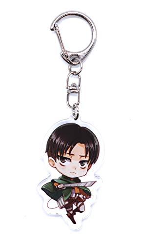 Anime Domain Attack on Titan Schlüsselanhänger mit Chibi Figur (Levi A)