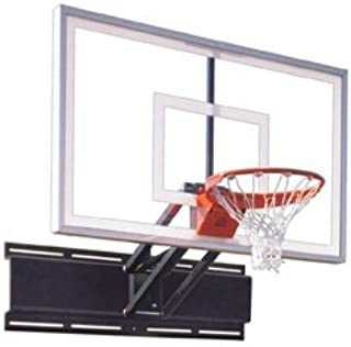 First Team UniChamp Nitro Steel-Glass Adjustable Wall Mounted Basketball System44; Forest Green44; Adjustable Wall Mounted Basketball System