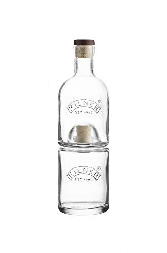 Kilner Stackable Bottle Set, Clear 2 Piece 01684