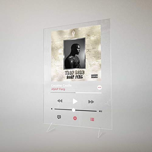 ASAP Ferg - Trap Lord, Cocaine Castle Apple Music Plexiglass Poster Table Stand Print on transparent Acrylic (A5 - 8.3 x 6.8 inches)