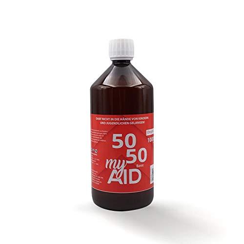 My Aid - e Liquid Basis 1000 ml ohne Nikotin Base 50% VG / 50% PG