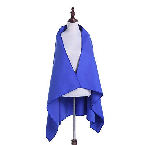 Bclaer72 Strandhandtuch, doppelseitig, Samt, Reisehandtücher, leicht und schnell trocknend, für Reisen, Sport, Fitness, Camping und Strände, 130 x 79 cm, dunkelblau