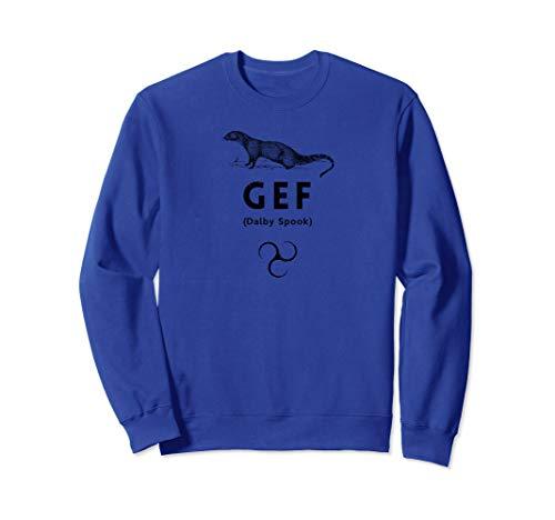 Gef Talking Mongoose Dalby Spook Isle Of Man Manx Black Sweatshirt