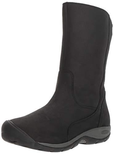 KEEN Women's Presidio II Waterproof Mid Calf Boot, Black/Magnet, 8 M US