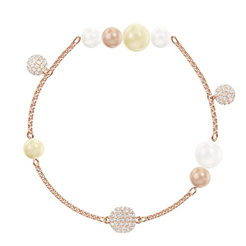 Swarovski Remix Collection Pearl Strand, Multicolore, Placcato Oro Rosa
