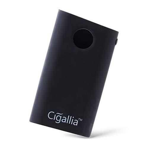 Cigallia gloケース シリコン 素材 スリム 軽量 耐衝撃 ストラップホール付き 持ち運びに便利 glo専用 ソフトケース gloカバー - ブラック