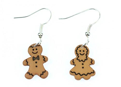 Lebkuchenmann und -frau Ohrringe Paar Weihnachten Lebkuchen Gebäck Miniblings