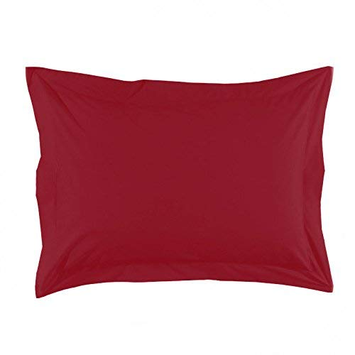 Essix Home Collection, Federa in Percalle, Rosso, 50 x 70 cm
