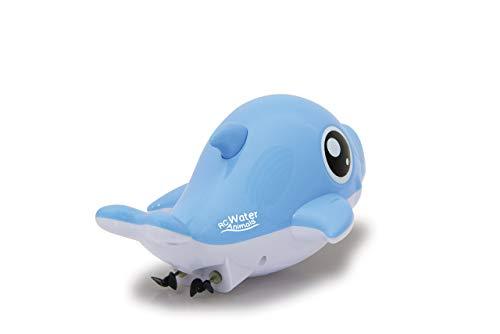 JAMARA 410111 - RC Water Animals 2,4GHz Delphin - mit Sicherheitsfunktion Schiffsschrauben drehen Sich nur im Wasser, 2 Antriebsmotoren, einfach zu steuern, blau