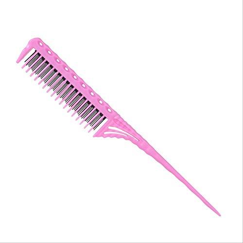MEIZI comb Hot Comb Teeth Teasing Kamm Detangling Brush Tail Comb Hinzufügen von Volumen Zurück Coming Friseur KämmeTyp 6 Rose Red