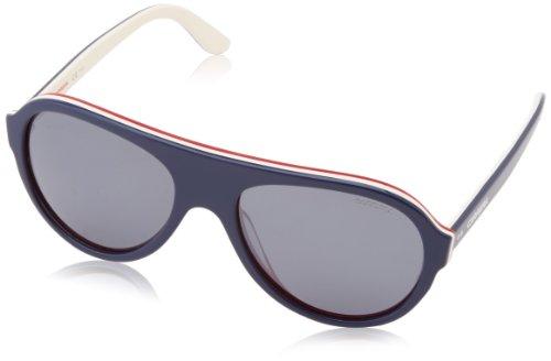 Carrera CA84/S Polarized Oval Sunglasses, Blue,Ivory & Red, 55 mm