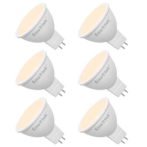 MR16 GU5.3 7W LED 12V Strahler Leuchtmittel Glühbirnen Spot Lampen LED Warmweiß 3000K 120° Weitwinkel 650Lm Nicht Dimmbar Ersatz 60W Halogen Lampe 6er Pack von Enuotek