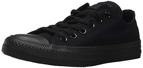 Converse Chuck Taylor All Star Core Ox, Black Monochrome, 6.5 Women/4.5 Men