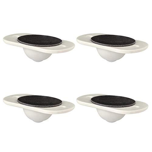 Nrkin 4 ruedas giratorias para muebles, ruedas de transporte, ruedas de plástico con adhesivo autoadhesivo, rotación de 360 grados, poleas universales, no requiere instalación