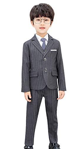 GEMVIE - Niño Traje Boda Vestir Ceremonia Conjunto de 5 Piezas Chaqueta Camisa Pantalones Chaleco Corbata Trajes Niño Comunión 3-9 años