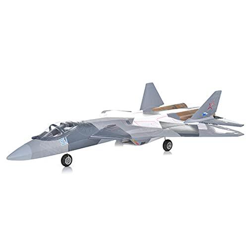tengod T50 lanzamiento manual RC 50 mm EDF Jet Aircraft Avión de caza 640 mm de envergadura mando a distancia eléctrico EPO simulación de avión juguete para niños adultos principiantes (PNP)