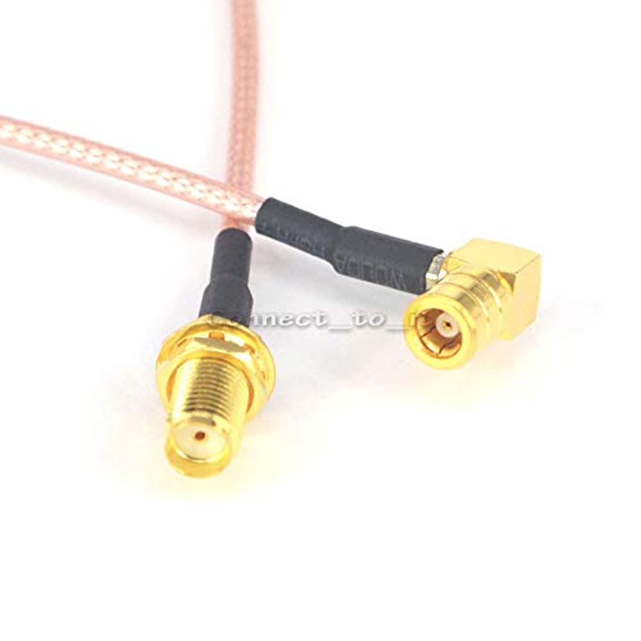 Gimax RF Coaxial SMA Female Bulkhead to SMB Female Right Angle Connector USB Modem Adapter Extension Cable 15CM