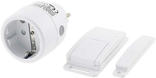 ChiliTec Funk Abluft-Steuerung mit Magnet Kontaktschalter und Funk Steckdose 230V I Universal einsetzbar bis 2000Watt I Weiß