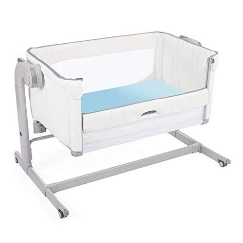 Giovanni Dolcinotti Baby Collection | Set de 2 Draps-housses pour Berceau Compatibles Chicco Next2Me 50 x 83 cm - 100% Coton, Fabriqué en Italie, Blanc/Bleu