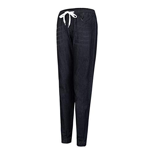 Pantalones Vaqueros Casuales para Mujer Primavera Y Verano Pantalones Vaqueros EláSticos De Cintura Alta Negros para Mujer Pantalones De Mezclilla