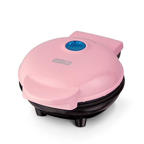 Dash DMS001PK Mini Maker Electric Round Griddle for Individual Pancakes, Cookies, Eggs & other on the go Breakfast, Lunch & Snacks, with Indicator Light + Included Recipe Book, Pink