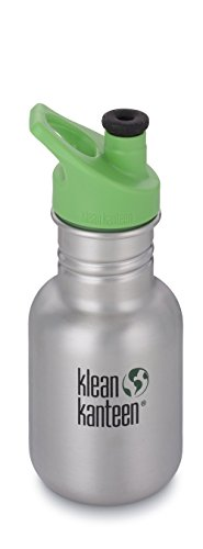 Klean Kanteen Edelstahl Kinderflasche mit Sport Cap 355 ml, Brushed Stainless, 8020007