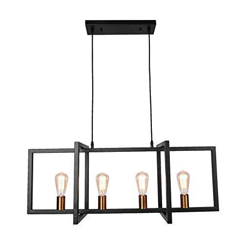 HLY Luces simples, lámpara de luz 40W Moderna sala de estar minimalista Isla de cocina Lámpara colgante rectangular E27 / E26 Restaurante Cocina Bar Techo Energía luminosa Calificación a ++: