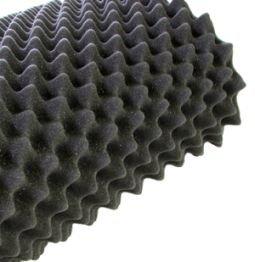 Noppenschaum anthrazit Platte 200 x 100 x 7cm zur Schalldämmung und Akustik Optimierung