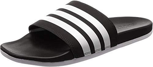 adidas Herren Cloudfoam Plus Stripes Adilette Dusch- & Badeschuhe, Schwarz (Negbás/Ftwbla 000), 44.5 EU (10 UK)