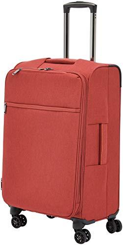 AmazonBasics - Trolley da viaggio morbido imbottito Belltown, 68 cm, Rosso