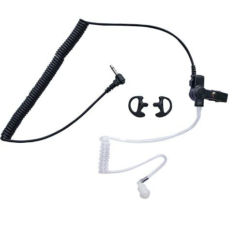 Threaded 3.5 3.5mm Listen Only Earpiece for Motorola APX 6000 XTS 5000 Radio Speaker Microphone, Transceiver, PC Audio Equipment Including Ear Molds
