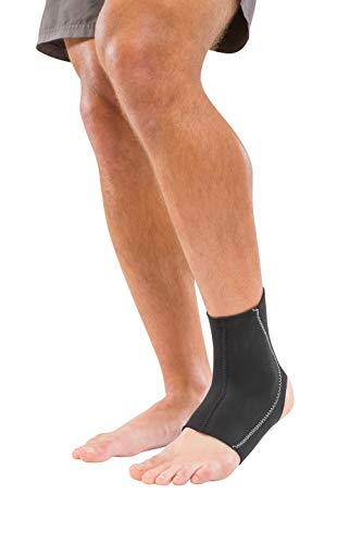 Mueller New & Improved Supportive Ankle Brace, Black, Medium
