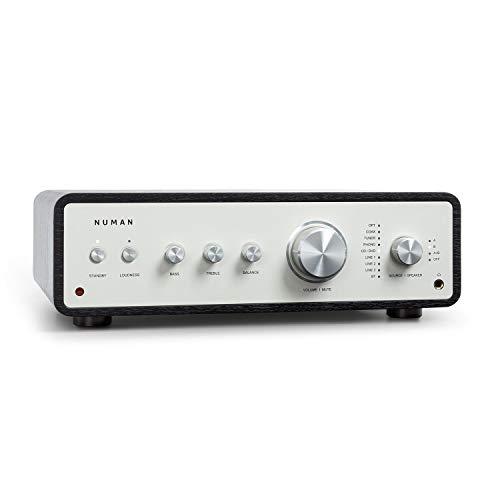 NUMAN Drive Stereo-Verstärker Digital, HiFi Verstärker, Retro, Ausgangsleistung: 2 x 170 W / 4 x 85 W RMS, 5 x Linein / 1 x Plattenspieler-Anschluss / 1 x CoaxIn / 1 x OpticalIn, Schwarz