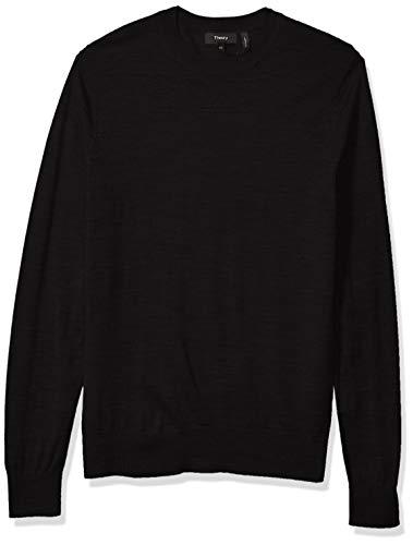 Theory Men's Sweater, Crew Neck PO, Black, M