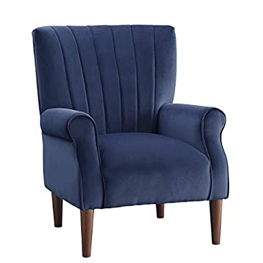 Lexicon Nellie Accent Chair, Navy Blue