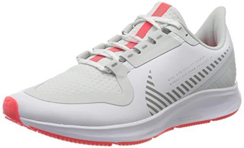 Nike Women's W AIR Zoom Pegasus 36 Shield Running Shoe, White/MTLC Silver/Photon Dust/Laser Crimson, 7 UK