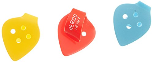 Herco HE113P Flat Thumbpicks, Heavy, 3/Player's Pack