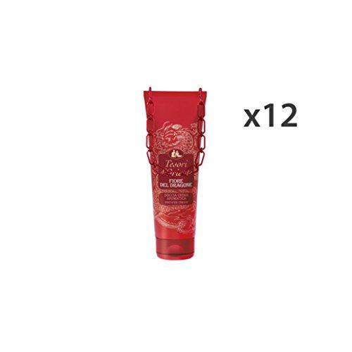 TESORI D'ORIENTE Lot de 12 Douches Fleur du Dragon 250 ml Savons et cosmétiques