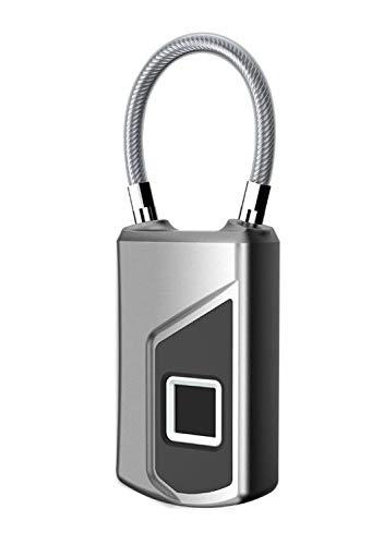 Regalos memorables Cerraduras de equipaje para maletas huella digital inteligente Cerradura de equipaje impermeable Antirrobo Multifunción Inicio IP66 16.4 * 34.3 * 90.9 mm Alarma de batería baja