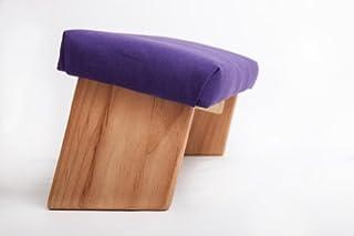 Folding Meditation Bench, Angled Legs (Purple, Standard)