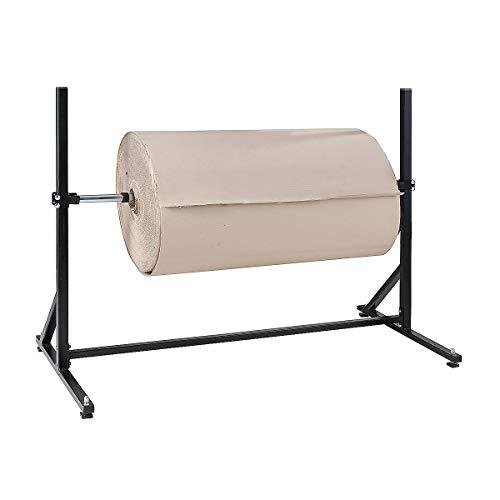 Certeo Abwickelständer für aufgerollte Verpackungsmaterialien | max. Rollenbreite 125 cm | Verpackungsständer Abwickelständer Wickelständer