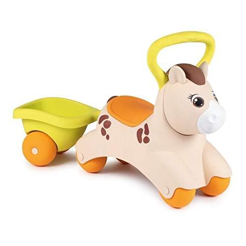 Smoby - Porteur Baby Pony - Pour Enfant Dès 12 Mois - Remorque Incluse - Poignée de Transport -...