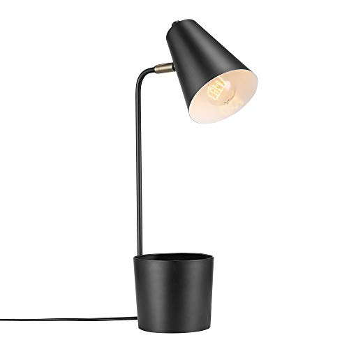 Globe Electric 52872 Taylor Desk Lamp, Matte Black with Organizer