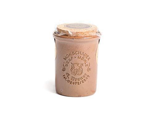 Knoblauch Senf - Monschauer Senf - Moutarde de Montjoie - 100 ml im Steintopf