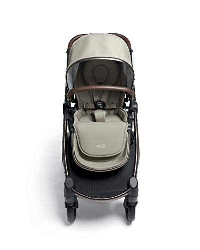 Mamas & Papas Ocarro All Terrain Puschair, Buggy, Pram, One Hand Fold, Puncture-Proof Tyres, Extendable Hood & Adjustable Lie Flat Seat - Iconic, 16.15 kg Mamas & Papas Robust support: dual suspension for all-terrains Ultimate comfort: large, padded seat One-hand fold: quick, easy and compact 4